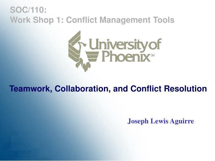 teamwork collaboration and conflict resolution n.