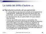 la tutela del diritto d autore 4 5
