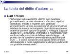 la tutela del diritto d autore 5 5