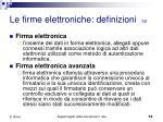 le firme elettroniche definizioni 1 2