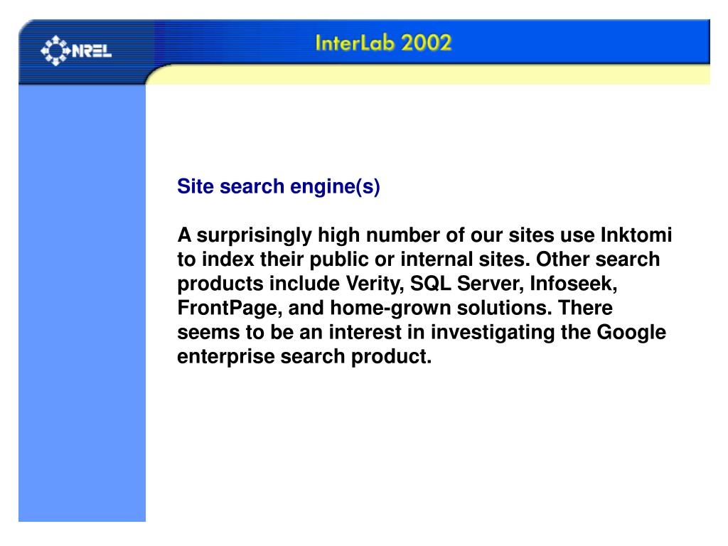 Site search engine(s)