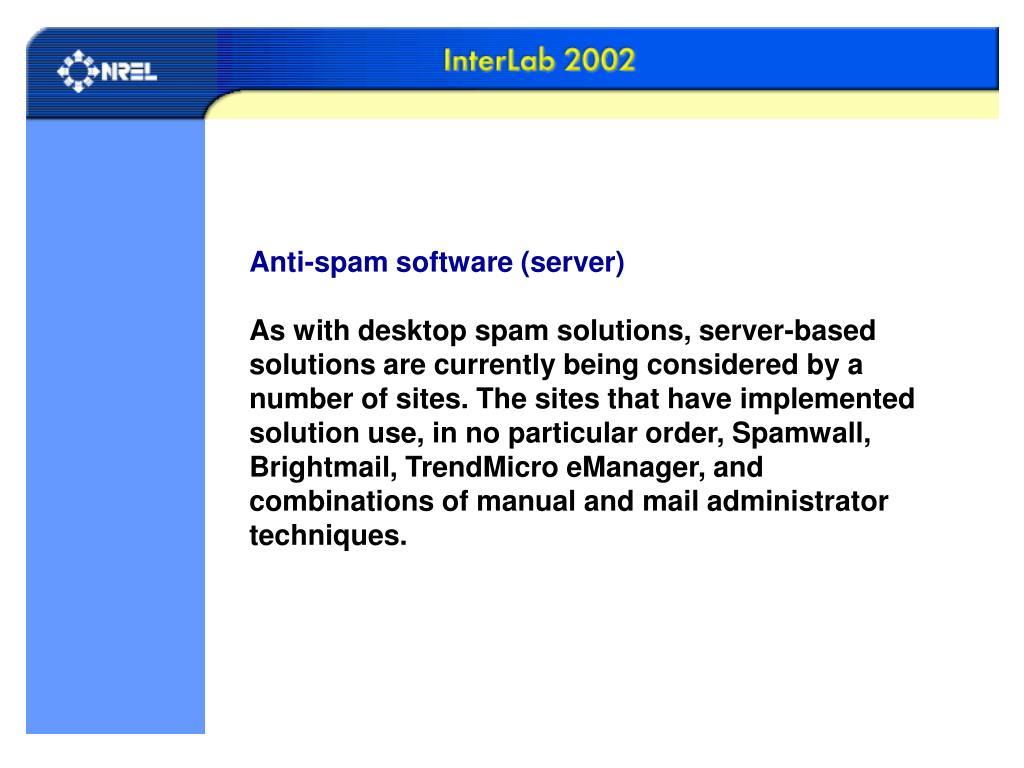 Anti-spam software (server)