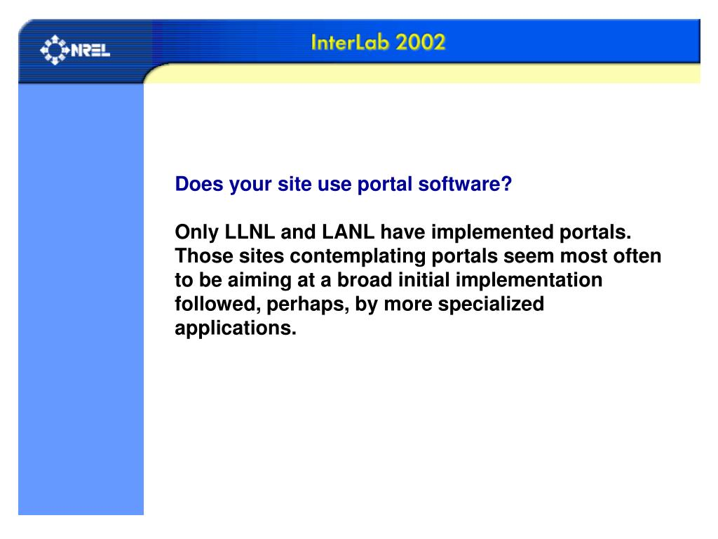 Does your site use portal software?