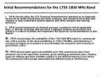 initial recommendations for the 1755 1850 mhz band