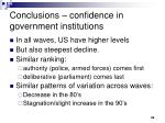 conclusions confidence in government institutions