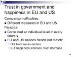 trust in government and happiness in eu and us
