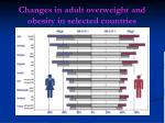 changes in adult overweight and obesity in selected countries