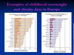 examples of childhood overweight and obesity data in europe