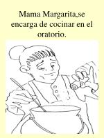 mama margarita se encarga de cocinar en el oratorio