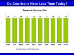 do americans have less time today