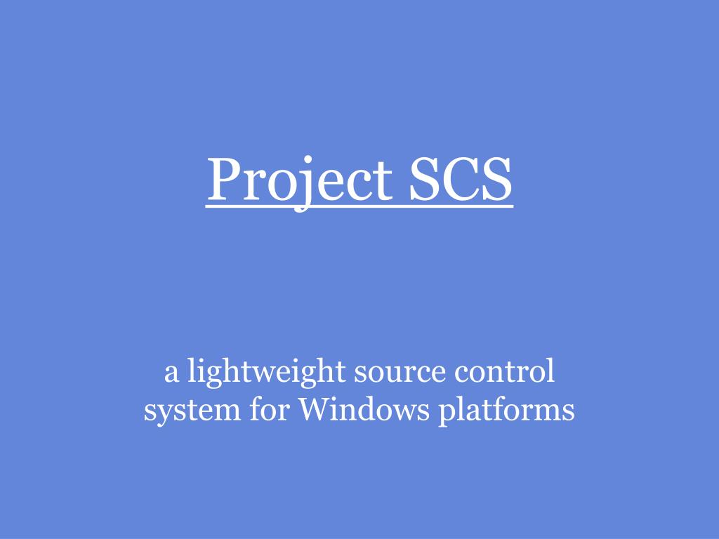 project scs