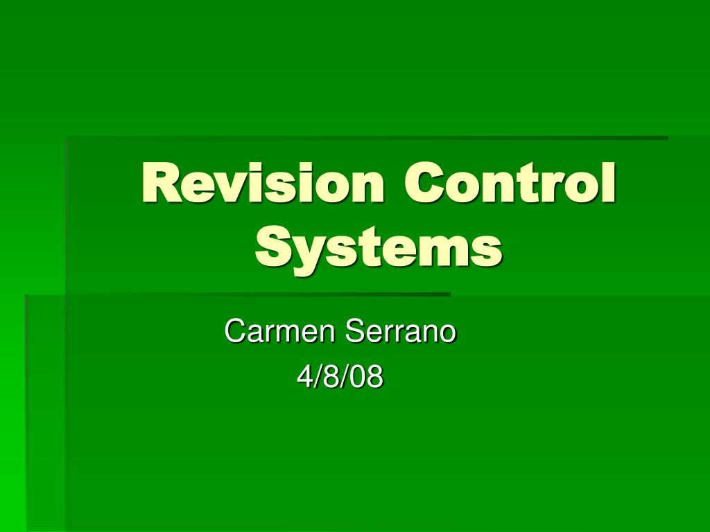 revision control systems l.