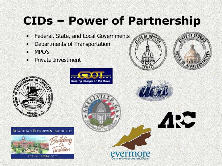 CIDs – Power of Partnership