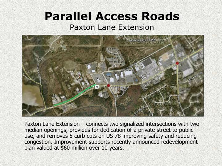 Parallel Access Roads