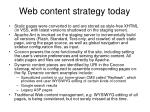 web content strategy today
