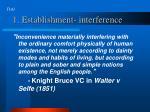1 establishment interference