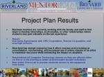project plan results