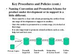 key procedures and policies cont
