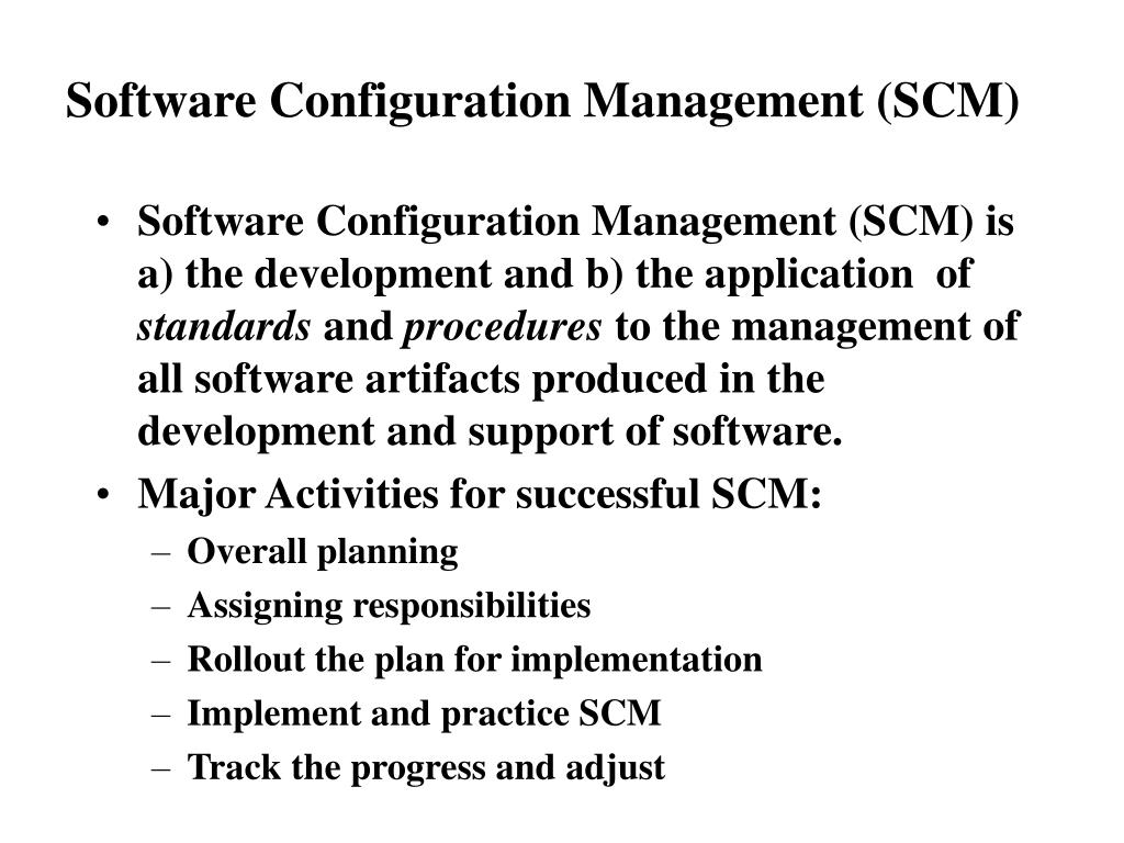 software configuration management scm l.