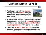 context driven school