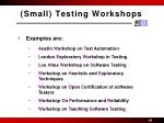 small testing workshops1