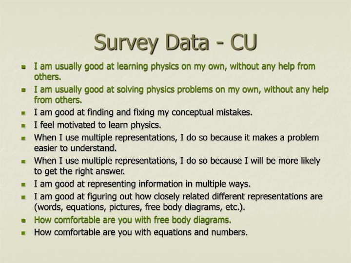 Survey Data - CU