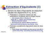 extraction d quivalents i