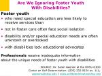 are we ignoring foster youth with disabilities