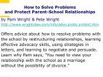 how to solve problems and protect parent school relationships