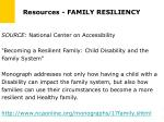 resources family resiliency