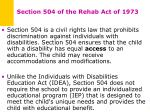 section 504 of the rehab act of 1973