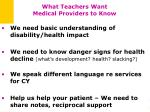 what teachers want medical providers to know