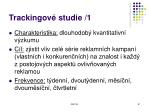 trackingov studie 1
