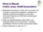 word of mouth vir ln buzz wom association