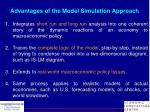 advantages of the model simulation approach