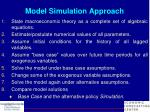 model simulation approach