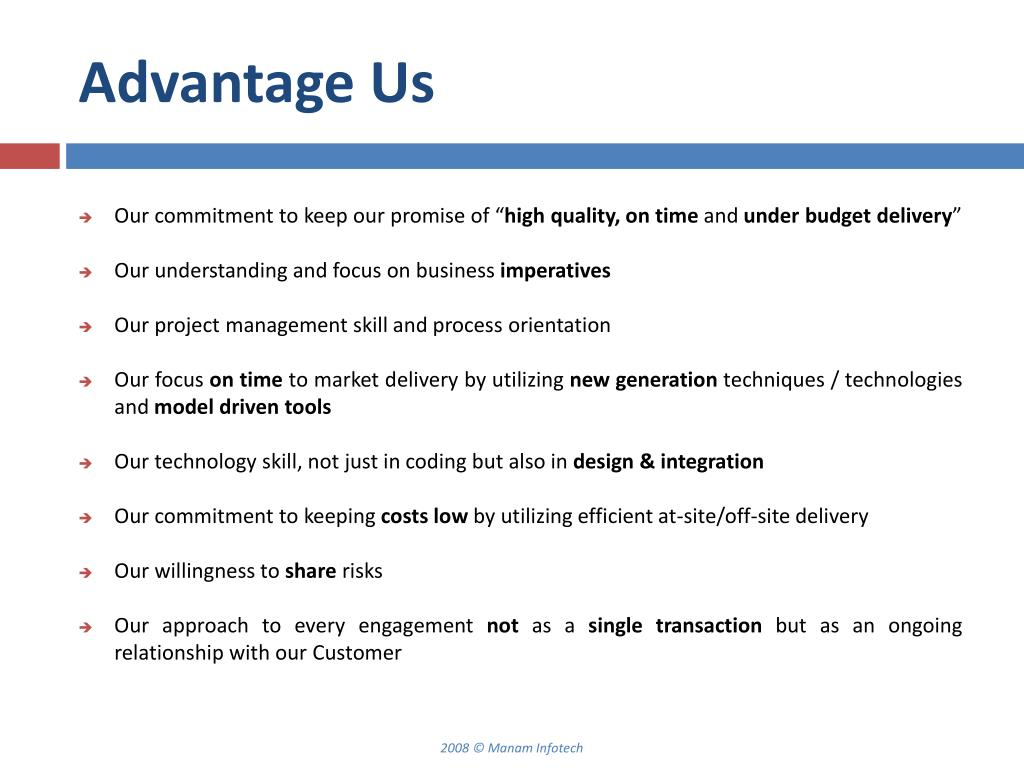 Advantage Us