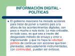 informaci n digital pol ticas