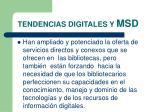 tendencias digitales y msd