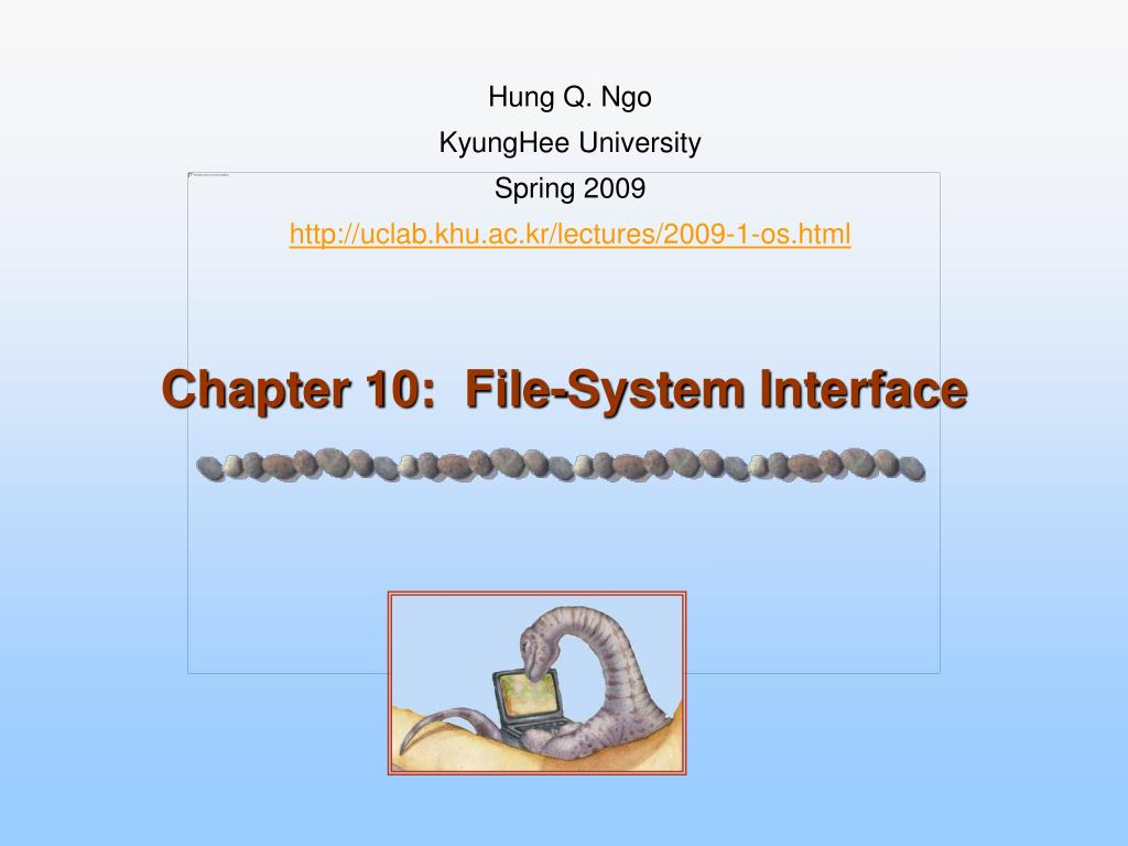 chapter 10 file system interface l.