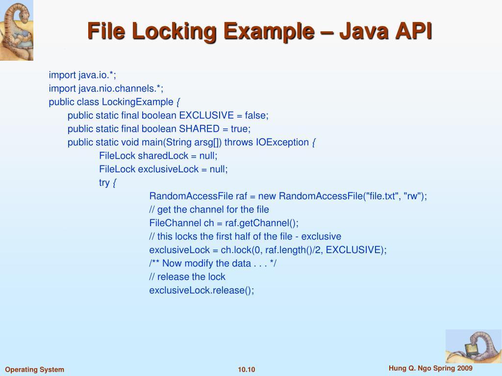 File Locking Example – Java API