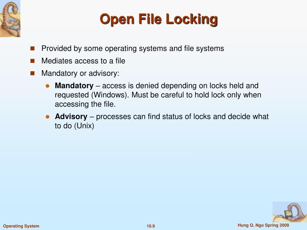 Open File Locking
