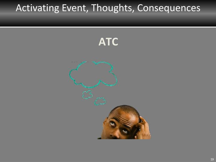 Activating Event, Thoughts, Consequences