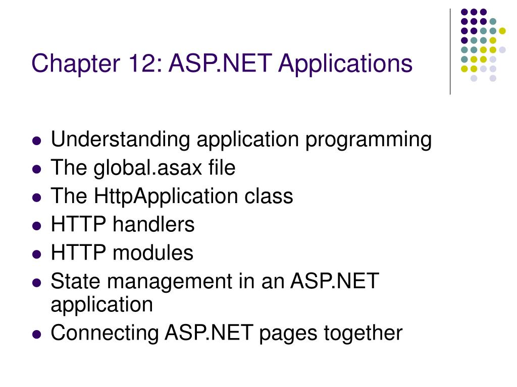 Chapter 12: ASP.NET Applications