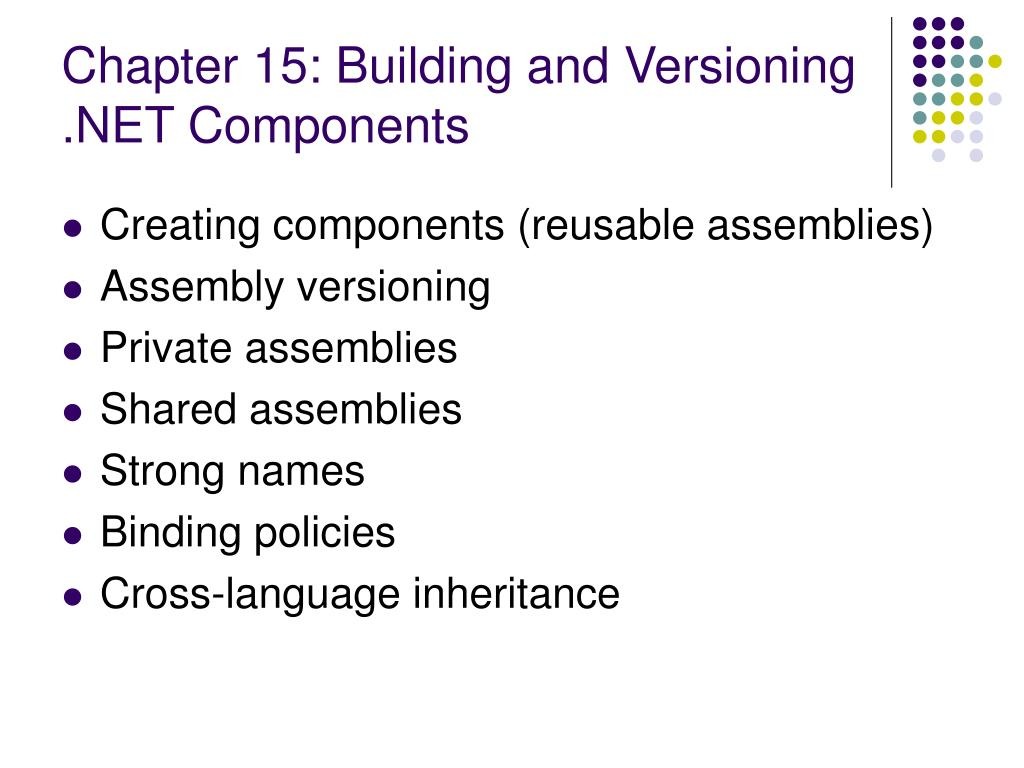 Chapter 15: Building and Versioning .NET Components