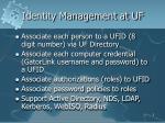 identity management at uf