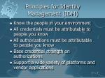 principles for identity management idm