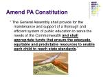 amend pa constitution