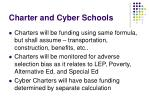 charter and cyber schools