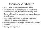 parsimony vs richness